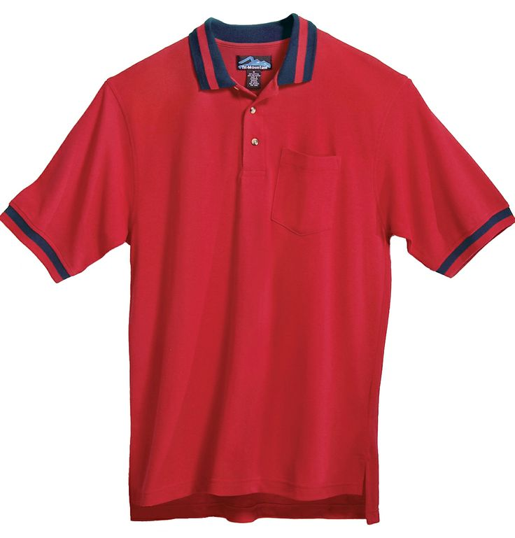 Pique Pocketed Golf Shirt With Trim (60% Cotton/40% Polyester). Tri mountain 179