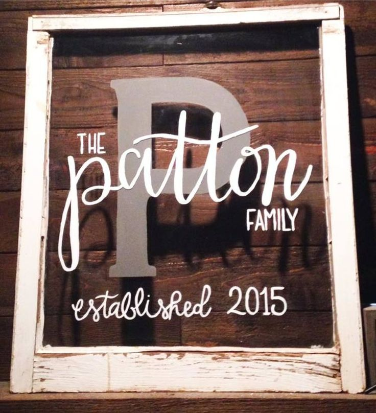 Personalized and custom family established sign by The Wooden Knot DFW