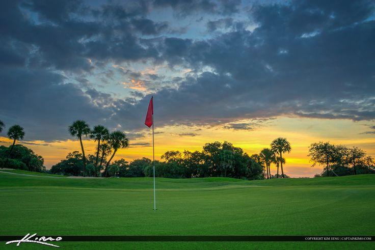 Flag Hole at Golf Course North Palm Beach Florida