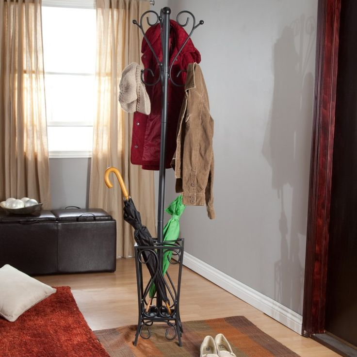 Southern Enterprises Scrolled Standing Coat Rack and Umbrella Stand - HP3192