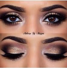 Maquillaje para un vestido negro y dorado