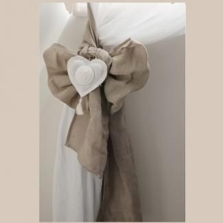 Embrasse Lin Rideau Coeur Mathilde M Déco de Charme