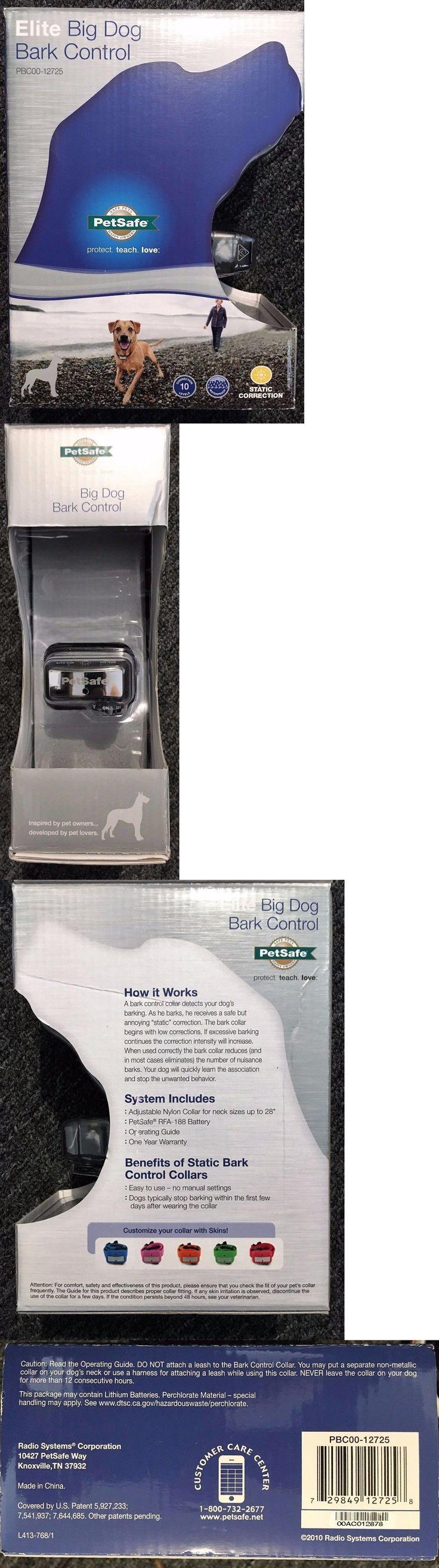 Bark Collars 66774: Brand New Petsafe Elite Big Dog Bark Control -> BUY IT NOW ONLY: $54.5 on eBay!