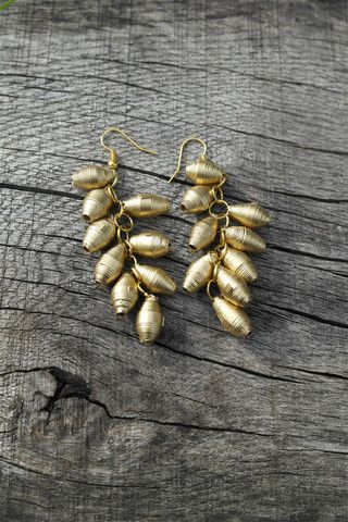 Recycled paper earrings by innovative Swaziland social enterprise, Quazi Design. Available from Sapelle.com for £9