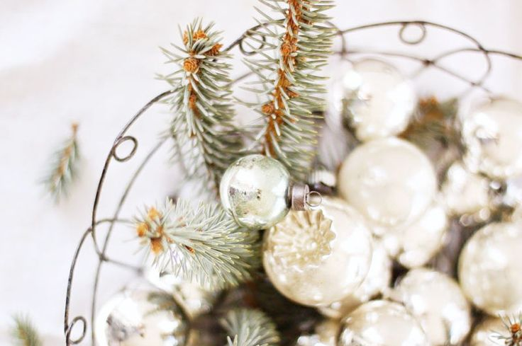Winter White Ornaments.