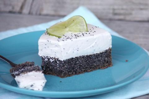 Makovo - smotanová nízkosacharidová torta - recept postup 2