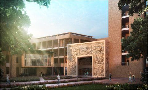"""India wants to - inflict the pain of useless - and pointless knowledge""   An artist's impression of Ashoka University, currently under construction in Kundli, Haryana."
