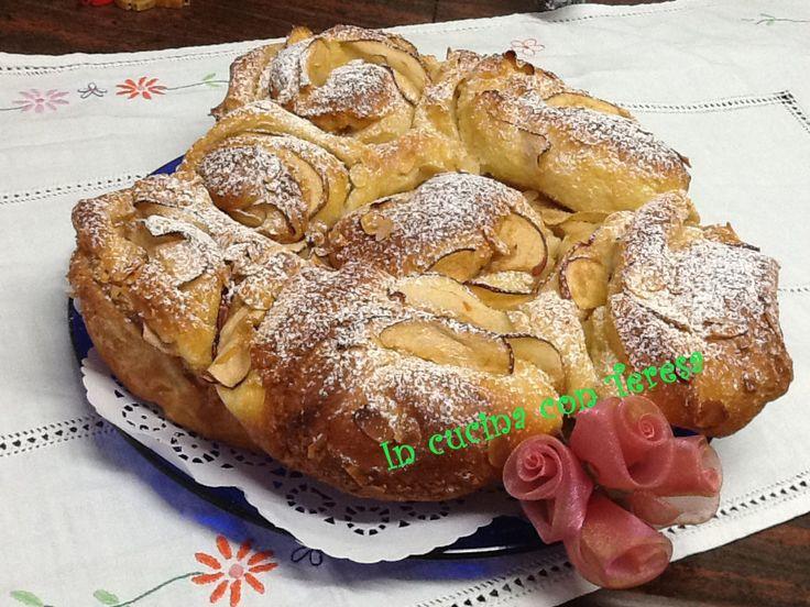 TORTA delle ROSE con MELE e MANDORLE