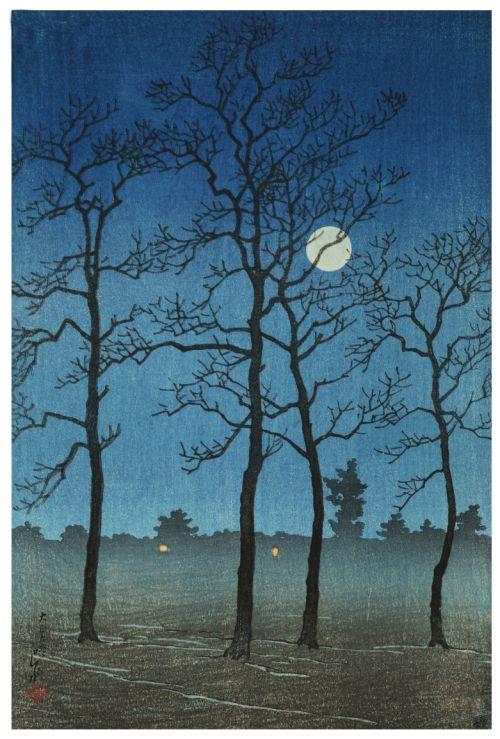 Canvas Idea Winter Moonlight Toyamanohara From The Series Twelve Subjects Of Kyoto By Kawase Hasui Toledo Museum Art