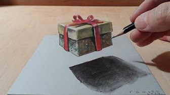 Trick Art on Paper, Drawing 3D Hole - YouTube