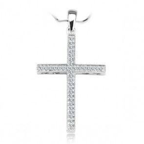 Złoty krzyżyk z diamentami - Biżuteria srebrna dla każdego tania w sklepie internetowym Silvea