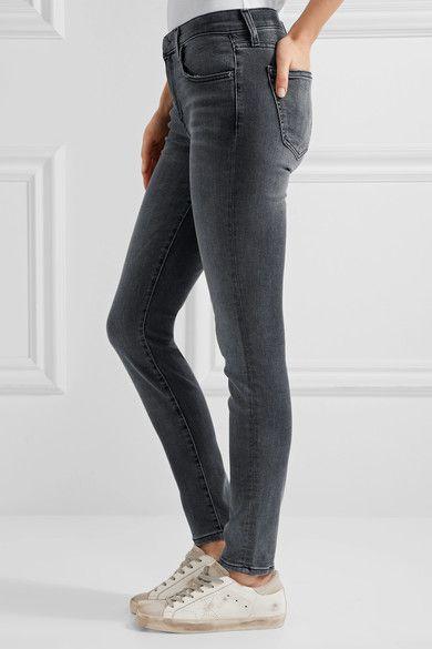 Current/Elliott - The High Waist Ankle Skinny Jeans - Gray - 25