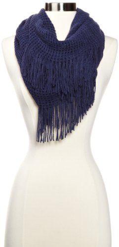 La Fiorentina Women's Super Soft Infinity Fringed Scarf $18.00