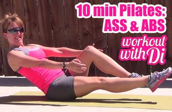 Work Out With Di | Pilates Ass and Abs Workout 20140429 | http://www.workoutwithdi.com 5 exercises for a tighter butt and toned core!
