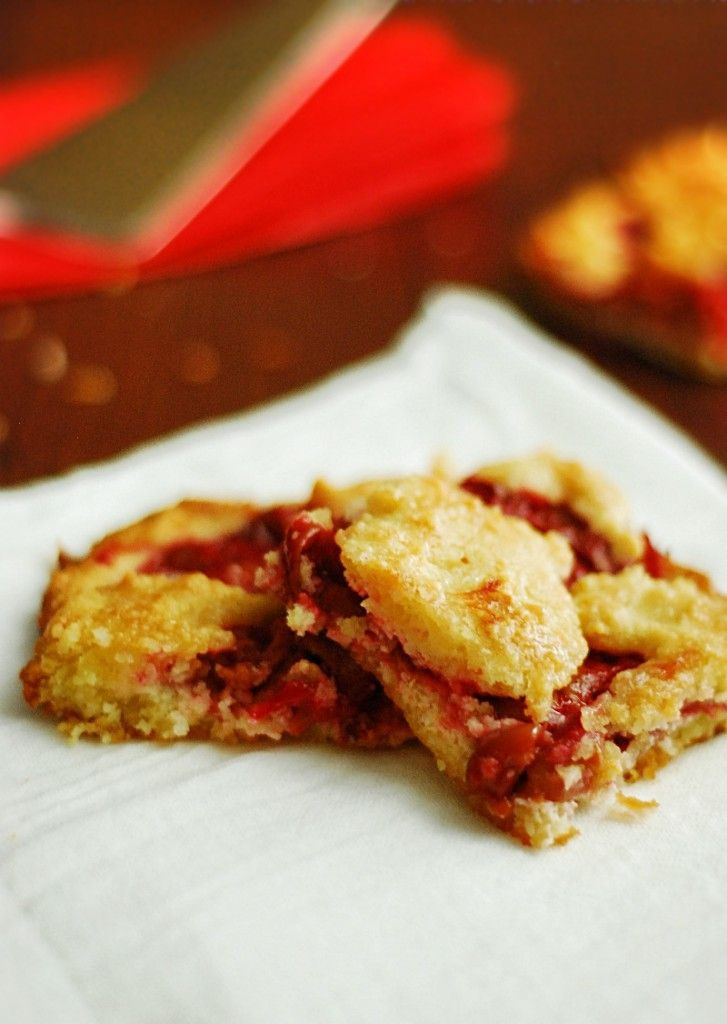 Low-carb cherry pie bars - Delicious low carb cherry pie bars for any high protein diet.