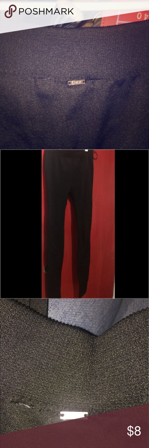 NWOT-Designer Black Fleece Lined Leggings ❤ NWOT-Dex-Jet.Black luxury fleece lined leggings ❤ Super black and super comfy! My two favorite things!! 😍😍 These leggings feel amazing on your skin!! I had to upsize because I'm a fat ass but these are ready for the taking!! Bundle & Save!! 😀😍❤ Dex Pants Leggings