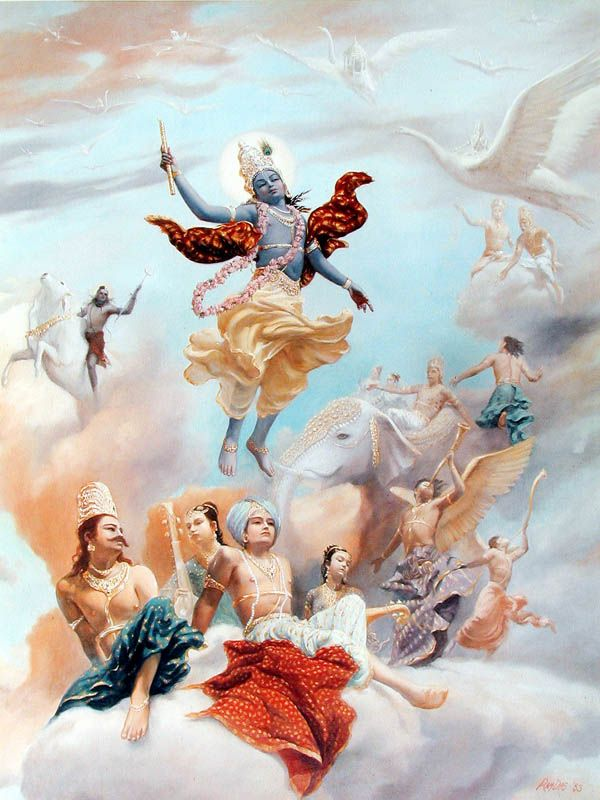 Krishna leaving the planet by  Ram Das Abhiram Dasa
