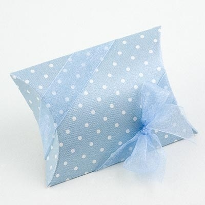 Mini Dot Bustina Favour Box - Blue - Pack of 10 by Italian Options £4.99 - The Wedding Gift Company