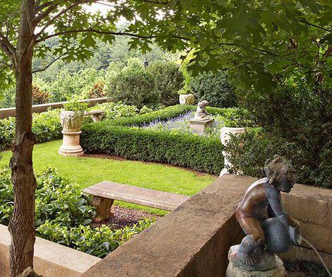 Traditional garden - garden ornament and statuary