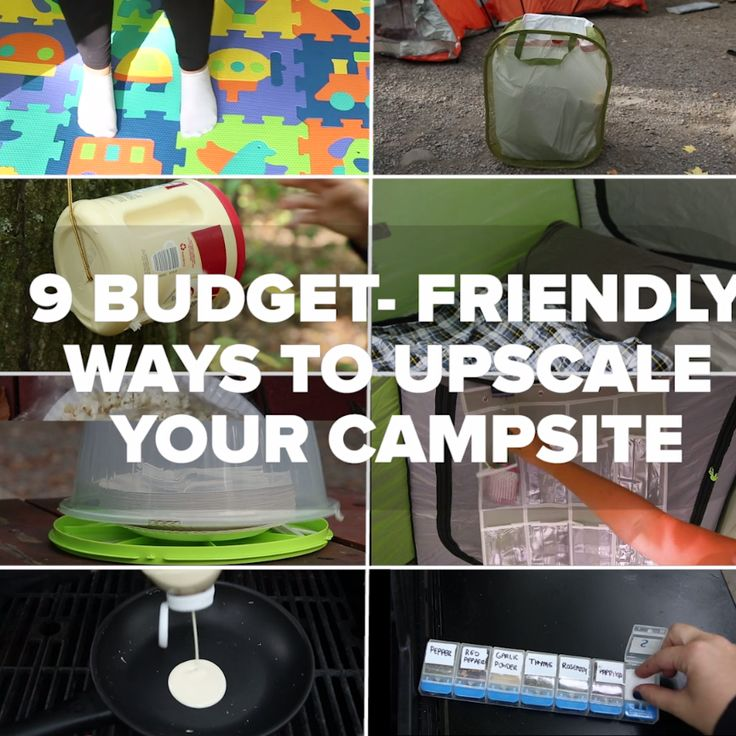 9-Budget Friendly Ways To Upscale Your Campsite // #camping #campinghacks #outdoors #goodful