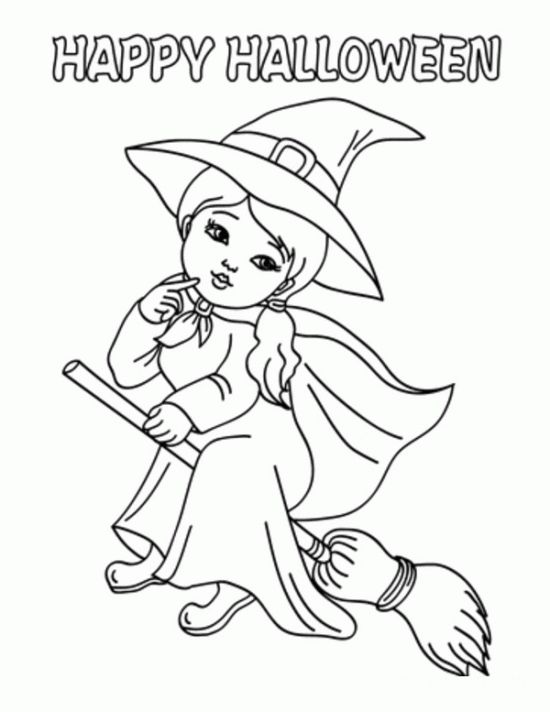Witch Coloring Pages 64 Printables To Color Online For Halloween