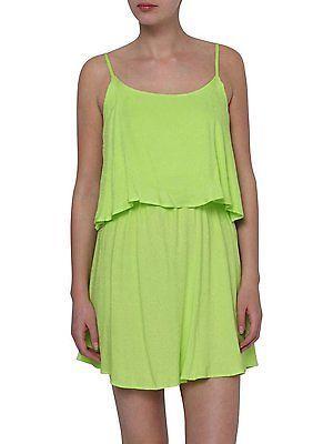 XS, Lime Punch, O 'Neill Lw Solid Leopard Women's Dress NEW