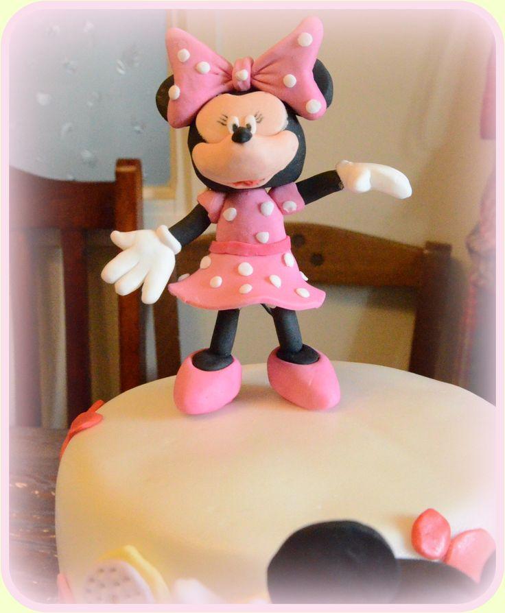 Minnie 2 από ζαχαρόπαστα. Minnie 2 fondant cake topper