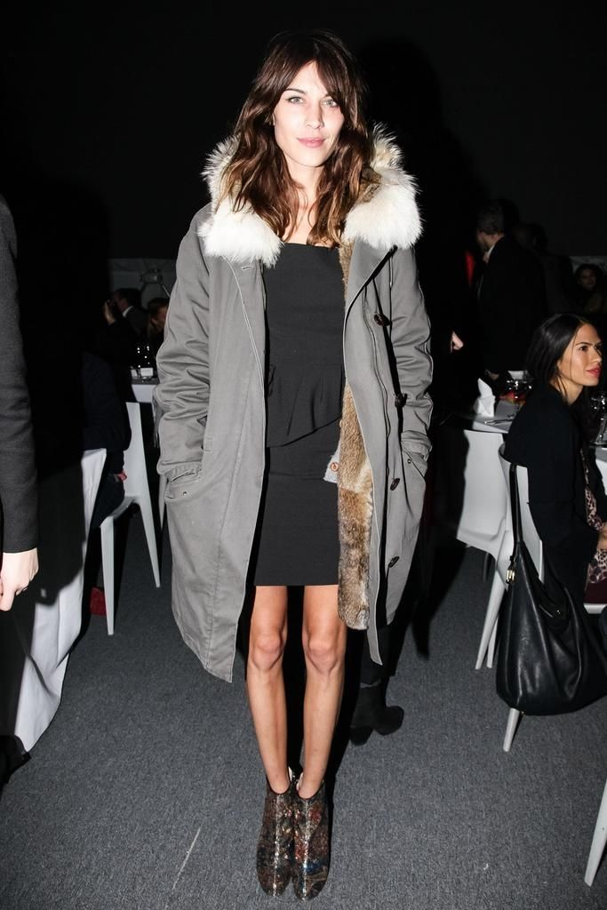 Master the effortlessly chic look in a grey parka and a black sheath dress. Elevate this ensemble with dark brown leather ankle boots.  Shop this look for $98:  http://lookastic.com/women/looks/grey-parka-black-sheath-dress-dark-brown-leather-ankle-boots/6419  — Grey Parka  — Black Sheath Dress  — Dark Brown Leather Ankle Boots