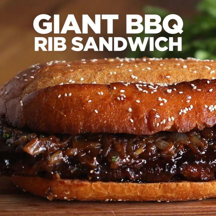 Giant BBQ Rib Sandwich | Tasty