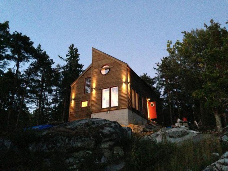 Panel till fasad home office design pinterest for Home node b architecture