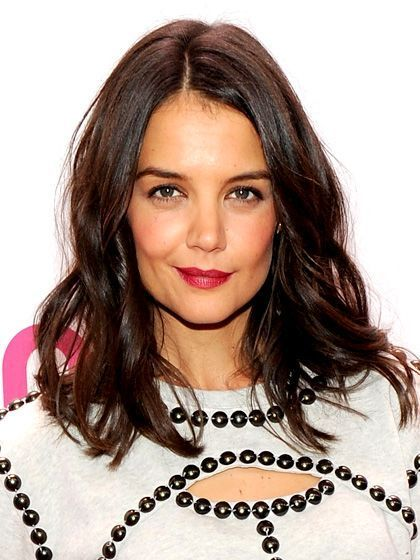 The Most Flattering Brunette Hair Colors for Every Skin Tone: Katie Holmes's Fair Skin with dark, rich mahogany brown waves | allure.com