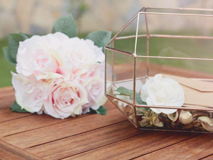 NEW! Large Geometric Box / Modern Wedding Decor / Glass Jewelry Box / Large Terrarium / Conservatory Envelope Holder / Wedding Table Decor by Waen on Etsy https://www.etsy.com/listing/235025690/new-large-geometric-box-modern-wedding