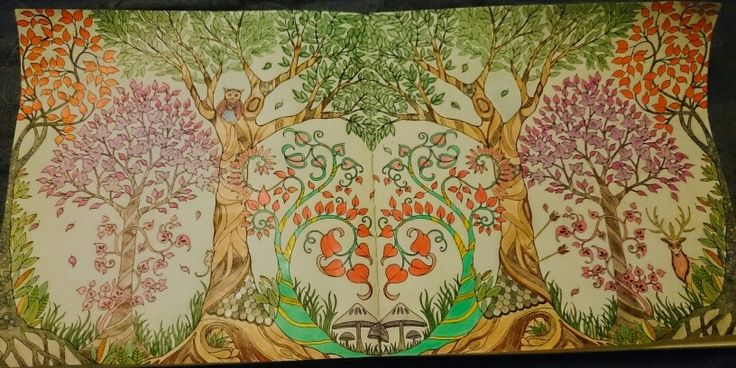 From Enchanted Forest Coloring Book By Johanna Basford