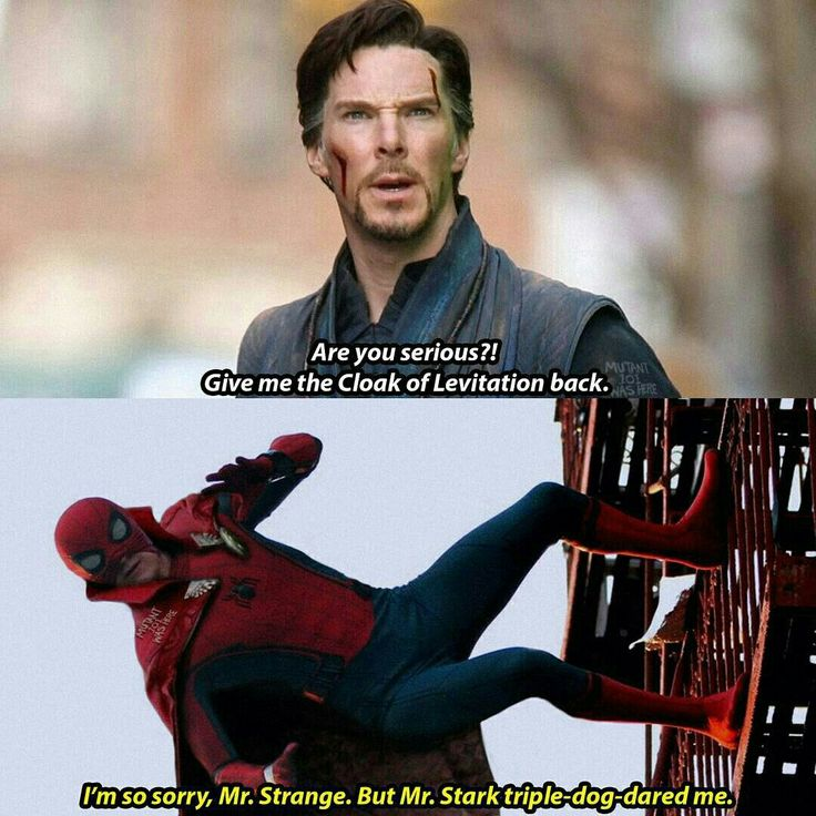 Hahahahaha...yes, just yes! If the cloak were to be usable by one other avenger, it would be Parker. Because reasons.