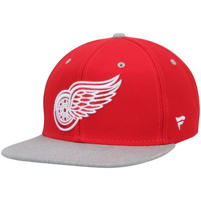 Detroit Red Wings Letterman Snapback Hat - Red