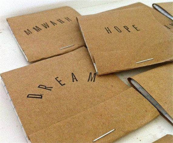 Your Choice of Handmade Matchbook Mini Notepad by dipdadipdesign, $2.00
