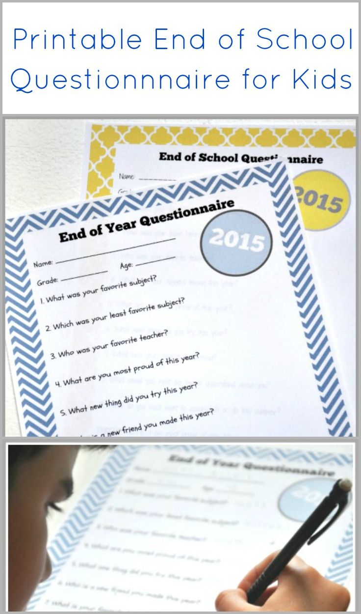 Cap your End of School with this fun FREE  printable for your kids! 2 printable versions -- one for younger and another for older kids.
