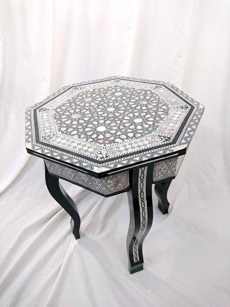 W82 перламутр марокканский угловой деревянный восьмиугольной стол Арабеска конец кофе | Дом и сад, Мебель, Столы | eBay!