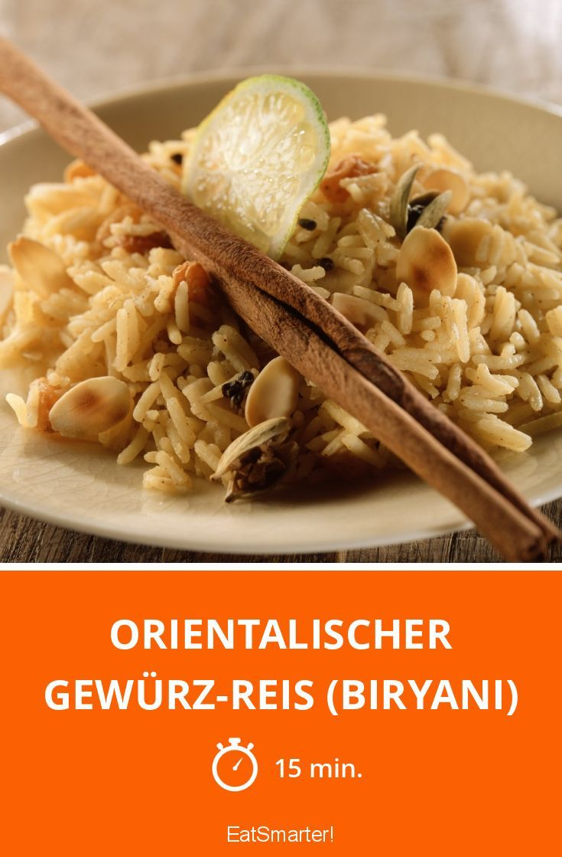 Orientalischer Gewürz-Reis (Biryani) | http://eatsmarter.de/rezepte/orientalischer-gewuerz-reis-biryani
