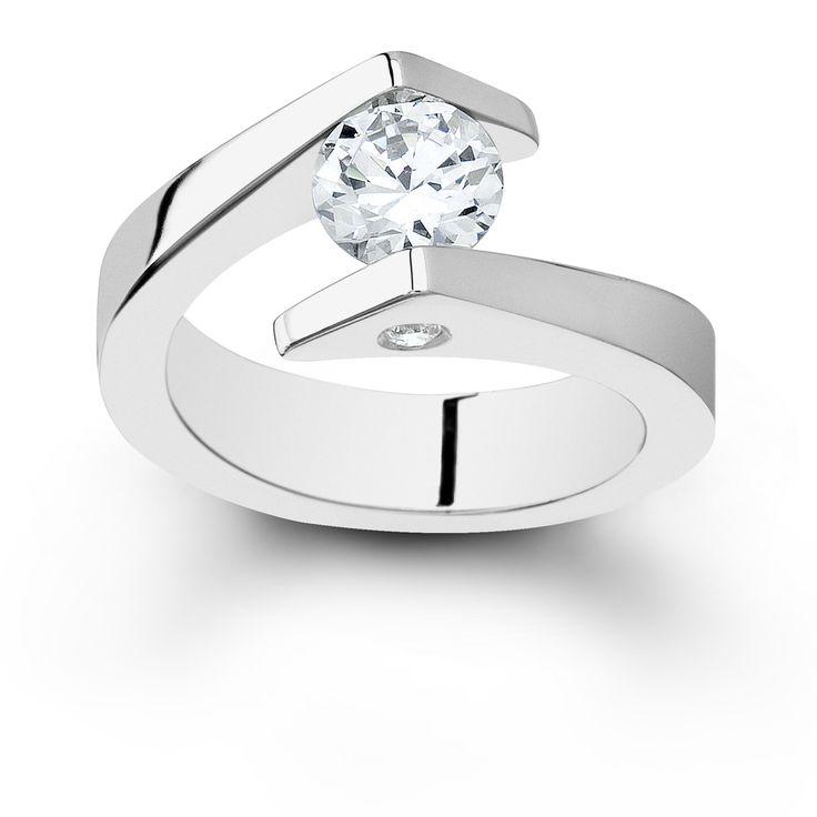 Diamond Tension Set Ring