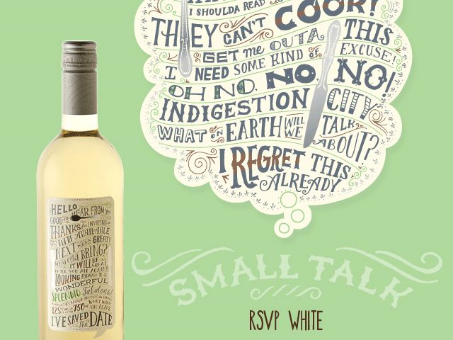 Small Talk RSVP White - wine packaging