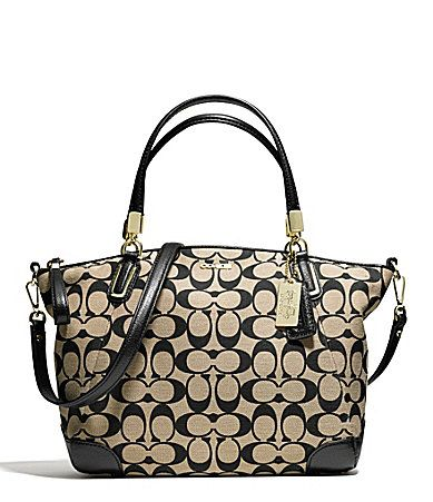 COACH MADISON SMALL KELSEY SATCHEL IN PRINTED SIGNATURE FABRIC #Dillards