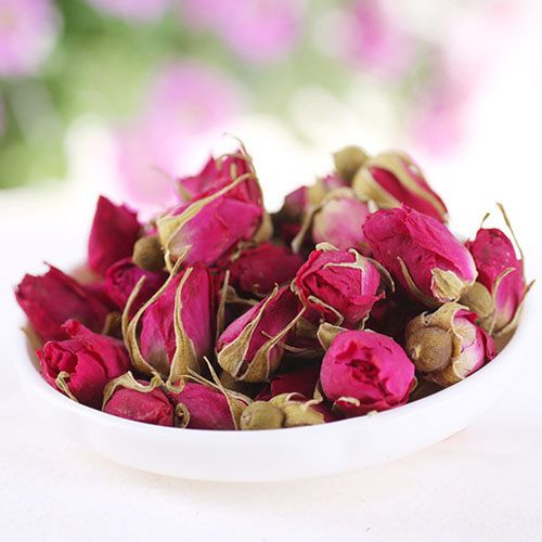 Drinking Rosebuds Tea improve skin condition, remove menstrual pain, make body and mental condition better. Regular using Rosebuds Tea improves the work of cardiovascular system, increases hemoglobin, breaks down the carbohydrates and stops cells aging.