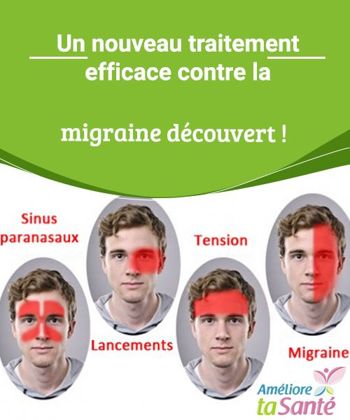 Un nouveau traitement efficace contre la migraine découvert !   Vous souffrez souvent de migraines ? Bonne nouvelle : un nouveau traitement efficace contre la migraine a été découvert. Venez en savoir plus.