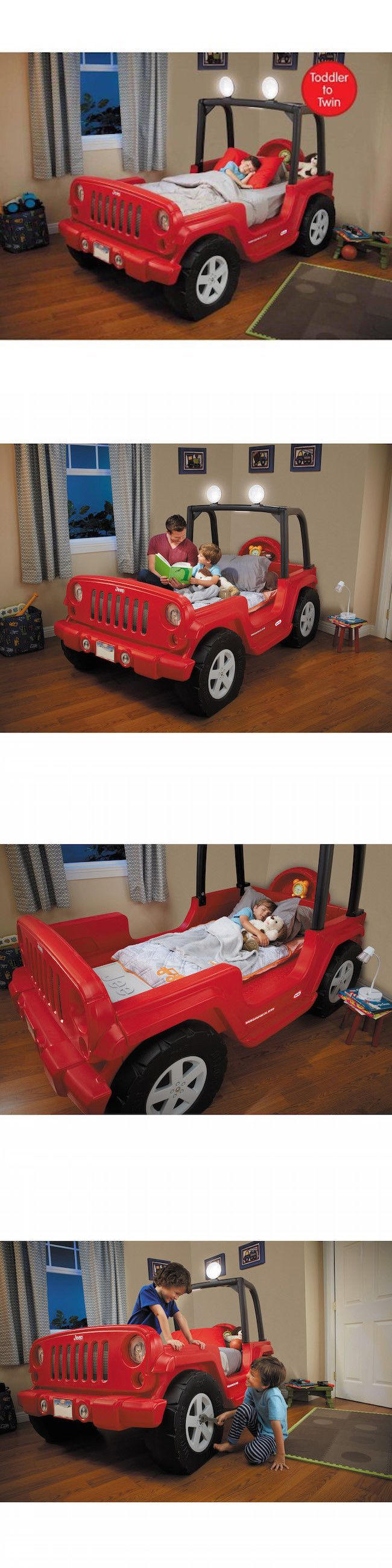 Kids at Home: Car Bed Frame Jeep Toddler Twin Kids Girls Boys Bedroom Furniture Storage Under -> BUY IT NOW ONLY: $434.99 on eBay!