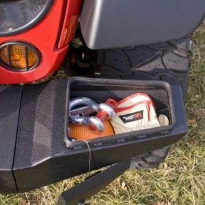Rugged Ridge Textured Black Lockable Front XHD Bumper Storage End