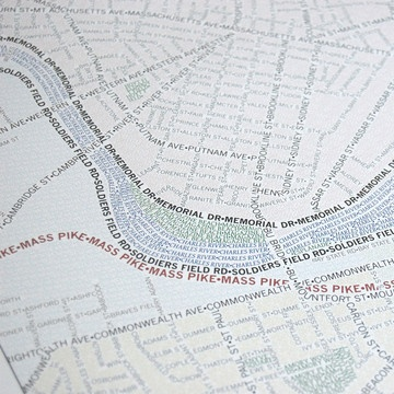 Typographical maps: Words as informative images
