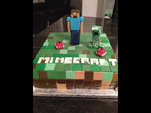 Minecraft cake, torta Minecraft + Steve, Creeper and TNT