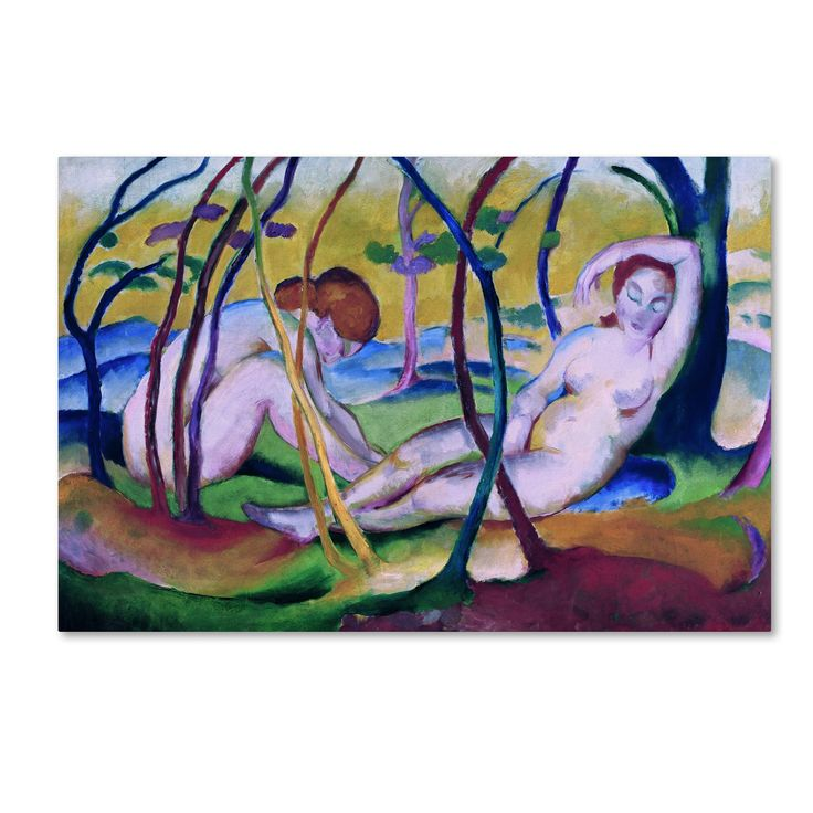 Franz Marc 'Nudes Under Trees' Canvas Art