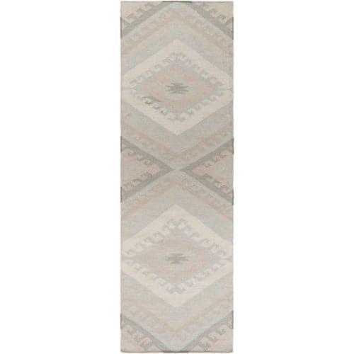 Surya WRR2006-268 Wanderer 3' x 8' Runner Wool Hand Woven Southwestern Area Rug - Cream (Ivory)